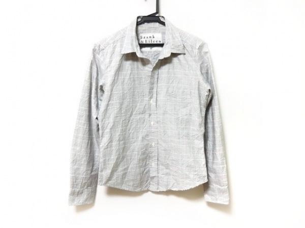 フランク&アイリーン 長袖シャツ サイズXS メンズ ライトグレー×白 チェック柄