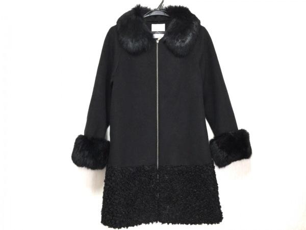 aA(アルファエー) コート サイズ36 S レディース美品  黒 ジップアップ/冬物