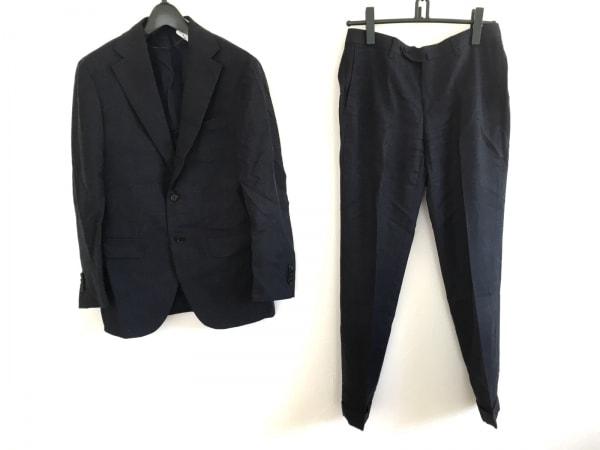 BRILLA(ブリラ) シングルスーツ サイズ44 L メンズ ネイビー 千鳥格子