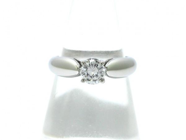 CHAUMET(ショーメ) リング新品同様  Pt950×ダイヤモンド 1Pダイヤ/0.31カラット