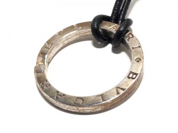 BVLGARI(ブルガリ) ネックレス ブルガリブルガリ レザー×シルバー 黒