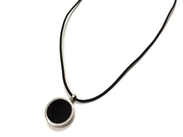 Dupont(デュポン) ネックレス美品  金属素材×漆×化学繊維 シルバー×黒