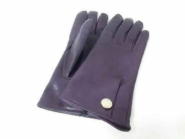 FURLA(フルラ) 手袋 レディース パープル レザー