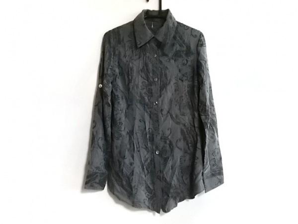 G.O.A/goa(ゴア) 長袖シャツブラウス サイズF レディース美品  グレー×黒