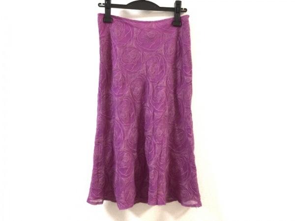 TOCCA(トッカ) スカート サイズ2 S レディース美品  パープル×ベージュ