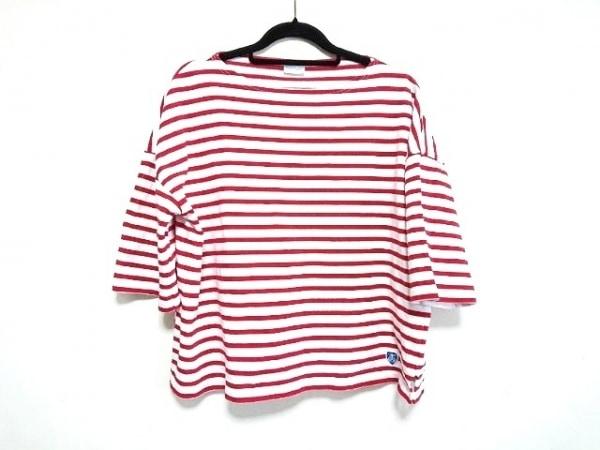 ORCIVAL(オーシバル) 半袖Tシャツ サイズF レディース美品  白×レッド ボーダー