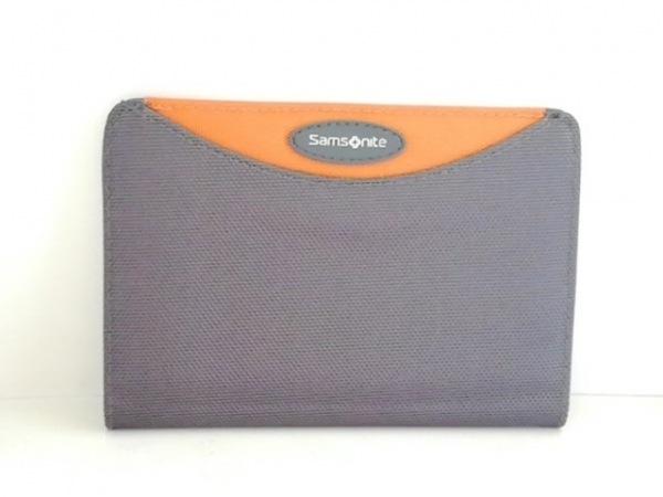 Samsonite(サムソナイト) 小物入れ グレー×オレンジ パスポートケース ナイロン