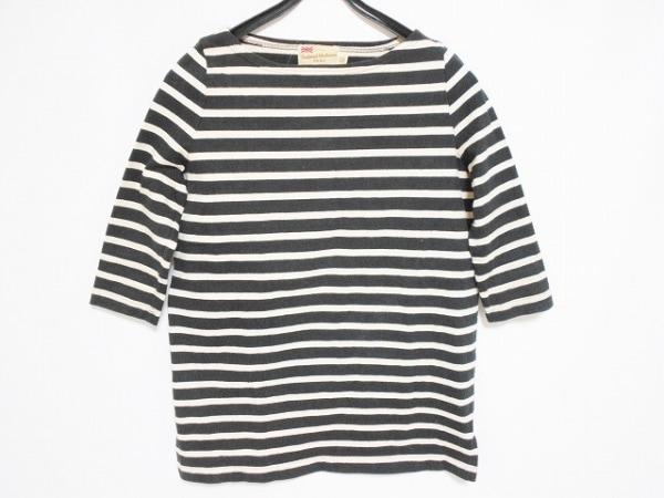 トラディショナルウェザーウェア 七分袖Tシャツ サイズXS レディース 黒×アイボリー