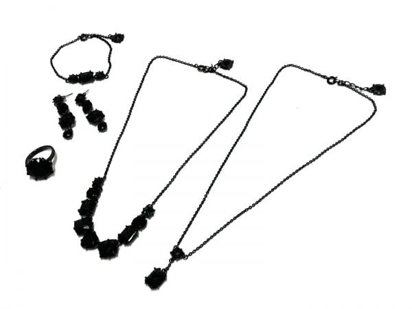 レネレイド アクセサリー 金属素材×カラーストーン ダークグレー×ダークネイビー