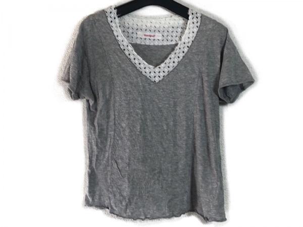 homspun(ホームスパン) 半袖Tシャツ サイズF レディース グレー×白