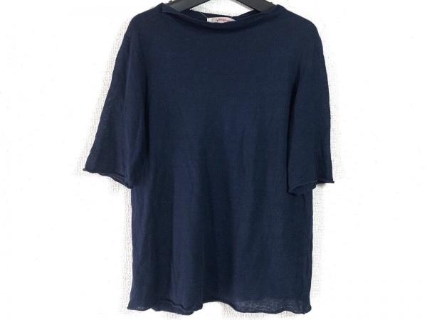 homspun(ホームスパン) 半袖セーター サイズF レディース ネイビー