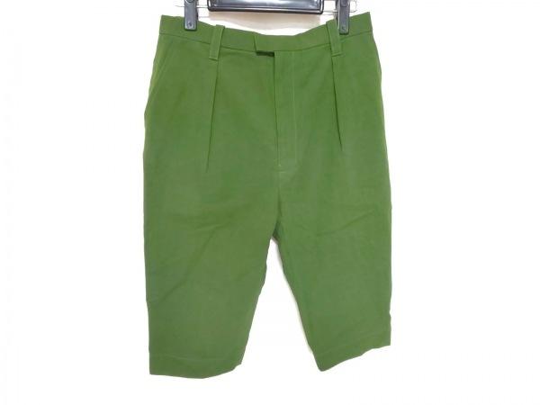 ミナペルホネン パンツ サイズ38 M レディース美品  ダークグリーン 七分丈