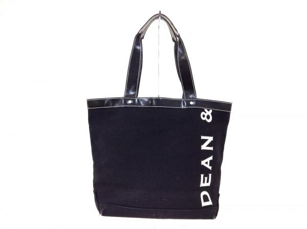 DEAN&DELUCA(ディーンアンドデルーカ) トートバッグ 黒 キャンバス×合皮