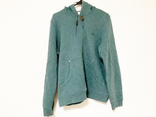 Lacoste(ラコステ) パーカー サイズ4 XL メンズ ダークグリーン キルティング/刺繍