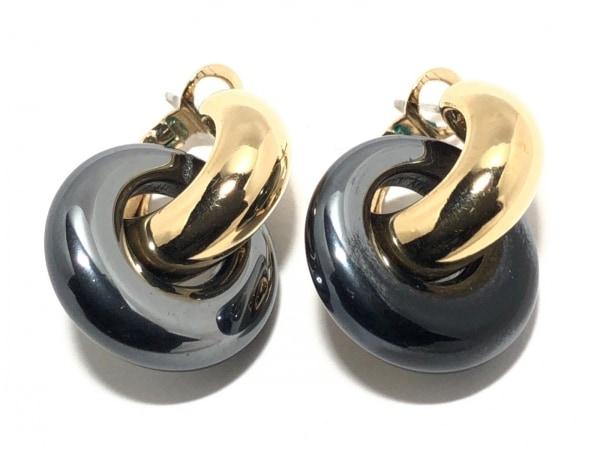 AGATHA(アガタ) ピアス 金属素材 ゴールド×ダークグレー