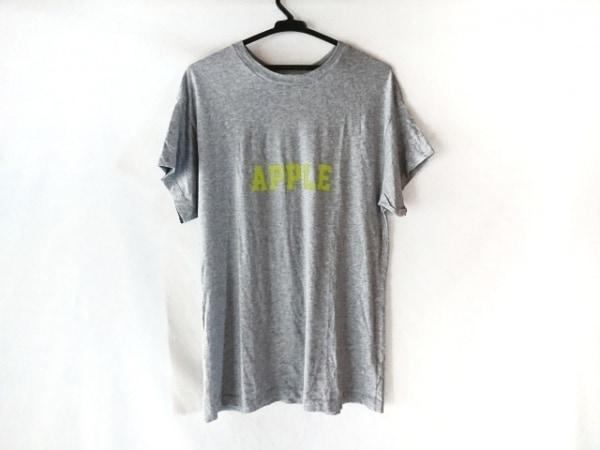 エムエスジィエム 半袖Tシャツ サイズS メンズ美品  グレー×ライトグリーン×マルチ