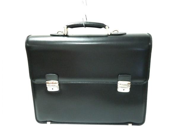 POLLINI(ポリーニ) ビジネスバッグ 黒 レザー