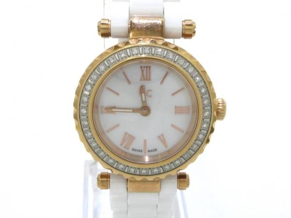 GUESS(ゲス) 腕時計美品  ミニシックプレシャス X70126L1S レディース シェルホワイト