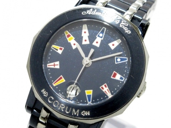 CORUM(コルム) 腕時計 アドミラルズカップ 39.130.30.V585 レディース ダークネイビー