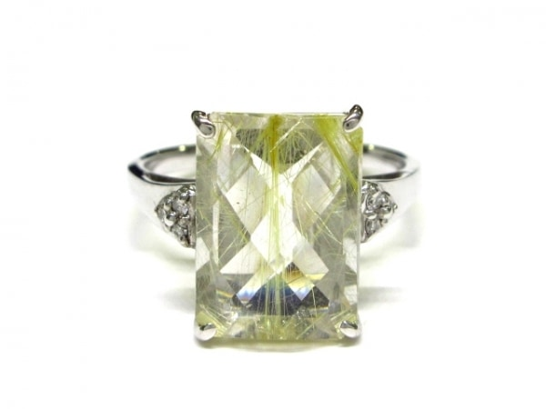 ノーブランド リング美品  K18WG×ダイヤモンド×カラーストーン クリア 総重量:7.1g
