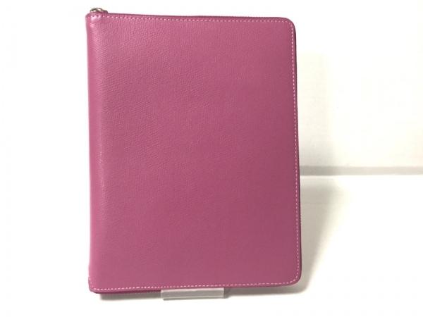 ASHFORD(アシュフォード) 手帳美品  ピンク ラウンドファスナー レザー