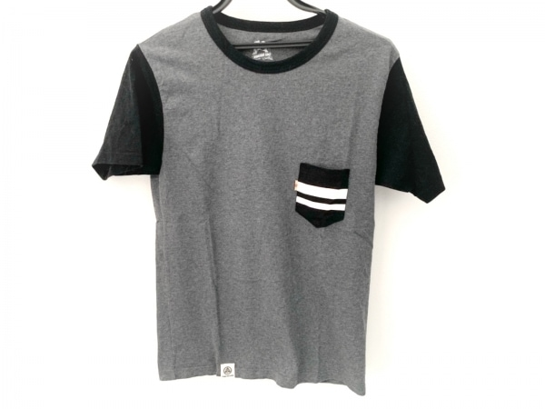MOMOTARO JEANS(モモタロウジーンズ) 半袖Tシャツ メンズ美品  ダークグレー×黒×白
