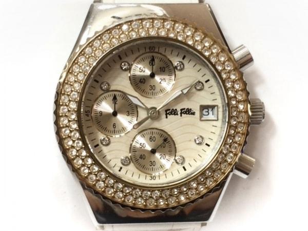 FolliFollie(フォリフォリ) 腕時計 WF5T181SV レディース アイボリー