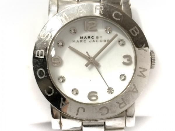 マークジェイコブス 腕時計 MBM3054 レディース ラインストーン 白