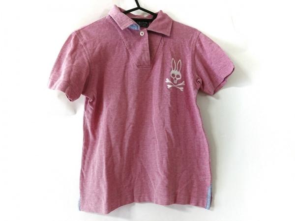 PsychoBunny(サイコバニー) 半袖ポロシャツ サイズ2 M レディース美品  ピンク×白