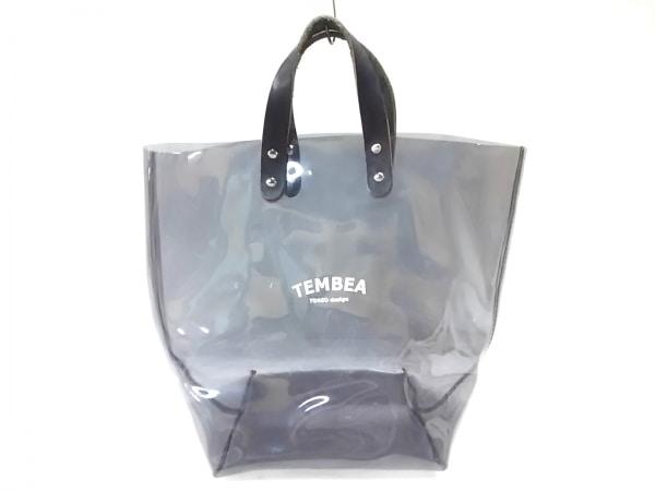 TEMBEA(テンベア) トートバッグ 黒 クリアバッグ PVC(塩化ビニール)×レザー