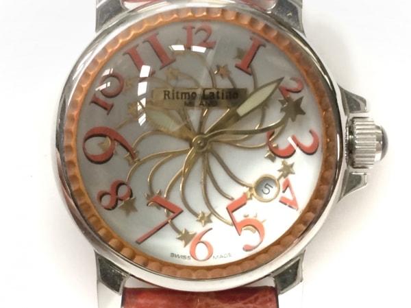Ritmo Latino(リトモラティーノ) 腕時計 - レディース クロコベルト 白