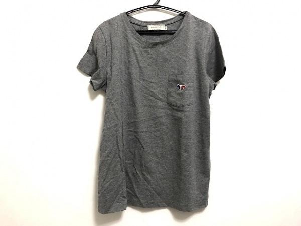 MAISON KITSUNE(メゾンキツネ) 半袖Tシャツ サイズS レディース美品  グレー