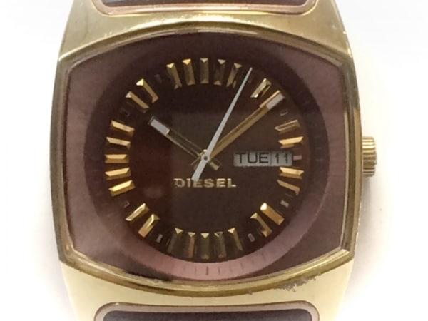 DIESEL(ディーゼル) 腕時計 DZ-5167 レディース 革ベルト ブラウン