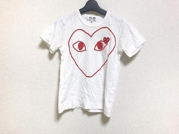 プレイコムデギャルソン 半袖Tシャツ サイズS レディース 白×レッド ハート