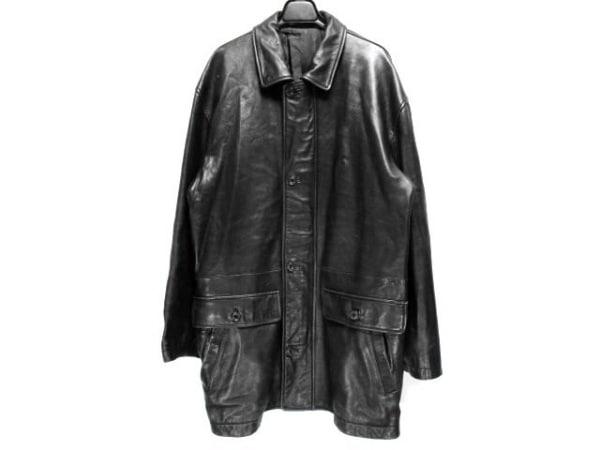 CROCODILE(クロコダイル) コート サイズL メンズ 黒 レザー/冬物