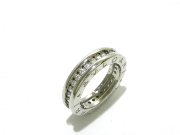 buy online 7b79f 1d267 BVLGARI(ブルガリ) リング 46 B-zero1 K18WG×ダイヤモンド フルダイヤ