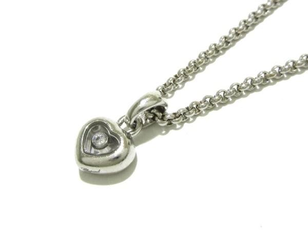 Chopard(ショパール) ネックレス美品  ハッピーダイヤ 79/4854 K18WG×ダイヤモンド