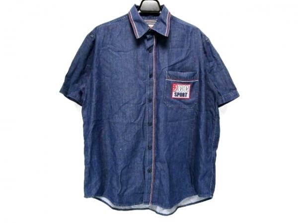 カステルバジャックスポーツ 半袖シャツ サイズ3 L メンズ ネイビー デニム/ワッペン
