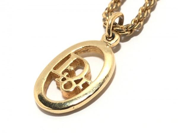 ChristianDior(クリスチャンディオール) ネックレス 金属素材 ゴールド ロゴモチーフ