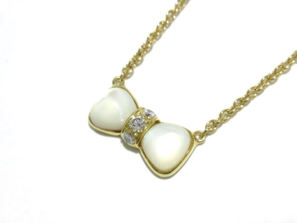 ヴァンクリーフ&アーペル ネックレス美品  ヌーパピヨン リボン/3Pダイヤ