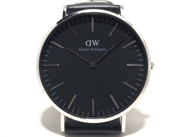 Daniel Wellington(ダニエルウェリントン) 腕時計 E40S1 メンズ 革ベルト 黒