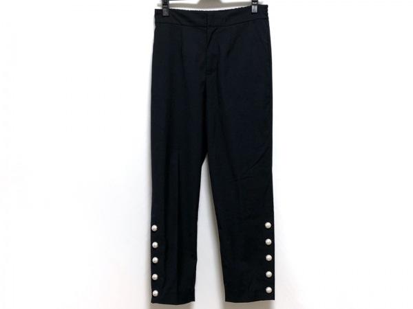 MUVEIL(ミュベール) パンツ サイズ38 M レディース ネイビー フェイクパール