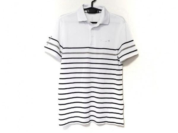 ラルフローレン 半袖ポロシャツ サイズP メンズ新品同様  白×黒×グレー ボーダー