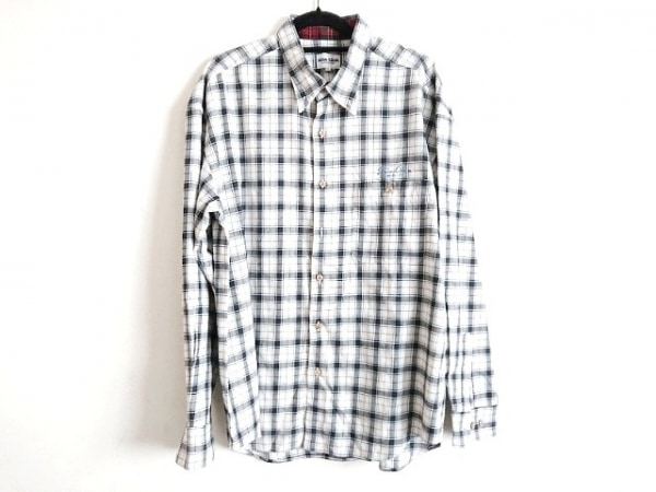 SINACOVA(シナコバ) 長袖シャツ サイズLL メンズ美品  アイボリー×黒×マルチ