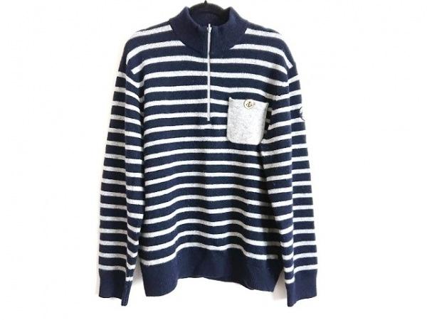SINACOVA(シナコバ) 長袖セーター サイズLL メンズ ネイビー×グレー