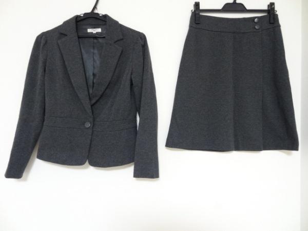 ナチュラルビューティー ベーシック スカートスーツ サイズS レディース ダークグレー