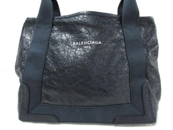 BALENCIAGA(バレンシアガ) トートバッグ ネイビーカバS 339933 ダークネイビー レザー