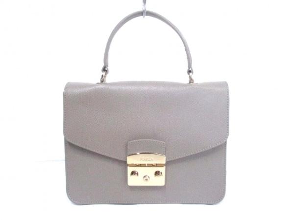 FURLA(フルラ) ハンドバッグ美品  メトロポリス グレー レザー