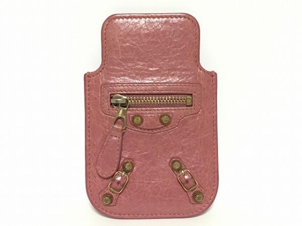 BALENCIAGA(バレンシアガ) 携帯電話ケース - 285372 ピンク iPhoneケース レザー