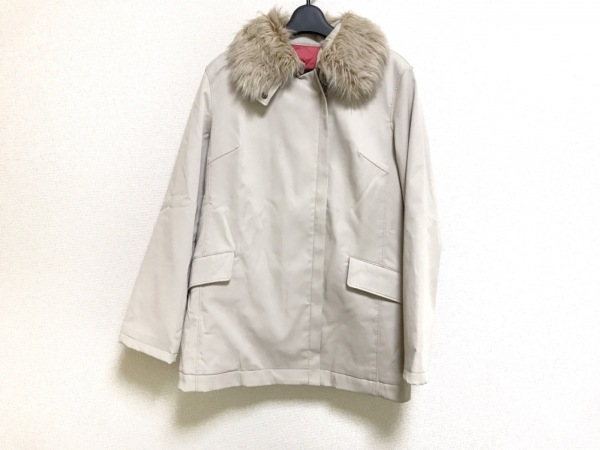 ROPE(ロペ) コート サイズ9 M レディース美品  ベージュ 冬物/ジップアップ